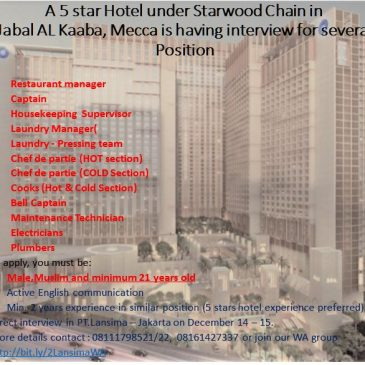 5 Star Hotel Starwood Interview